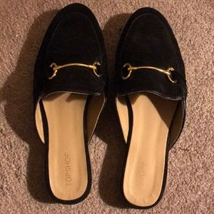 Topshop black mules or loafer slides size 6 or 7